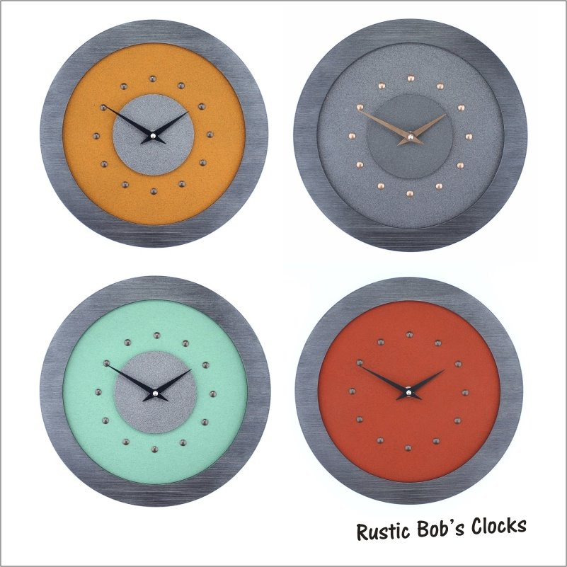 Choose from a wide Range of Colourful Wall Clocks in Various Styles - Orange - Red - Yellow - Green - Blue. Or Design your own
