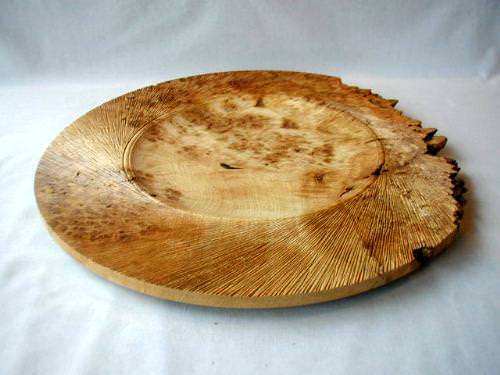 Rustic Carved English Oak Platter