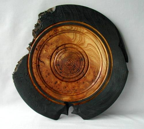 Rustic English Elm Platter