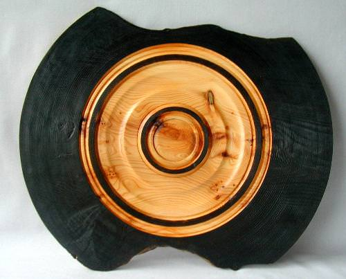 Burned Rustic English Yew Platter