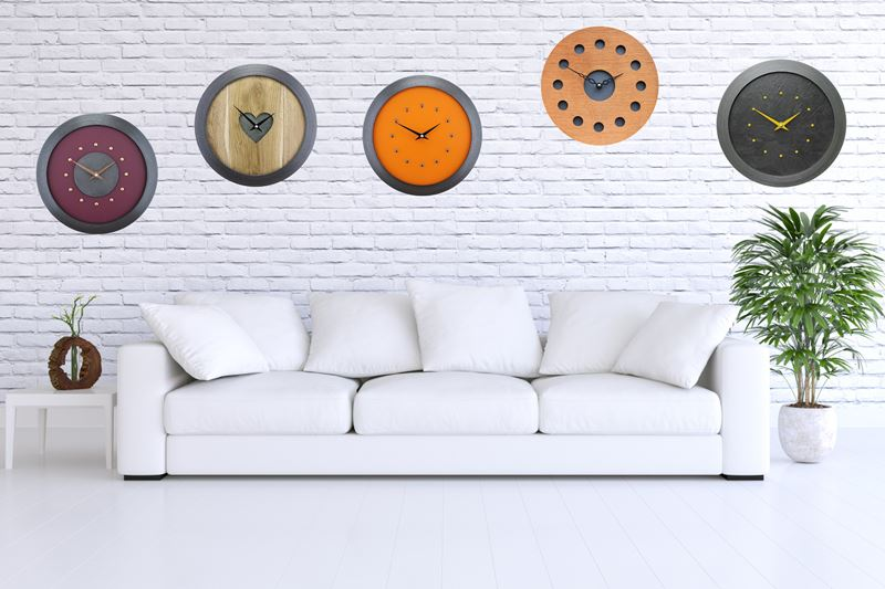 Rustic Bobs Handmade Clocks Shown on a Wall