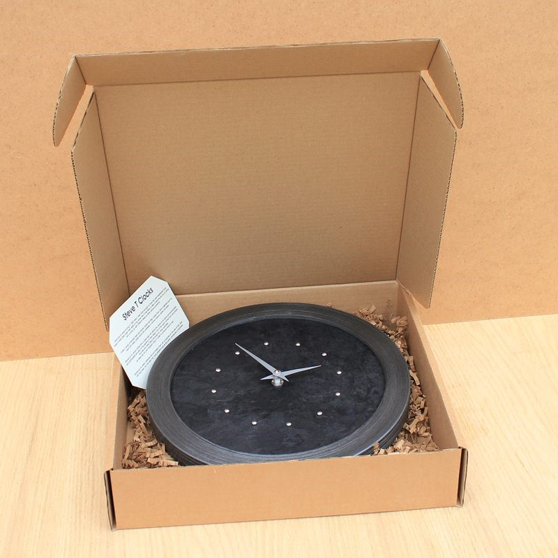All These Slate Effect Wall Clocks are Available in a Gift Box