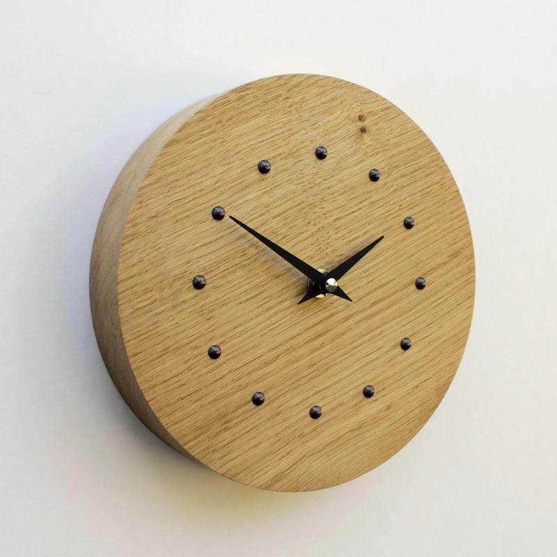 Round Oak Wall Clock